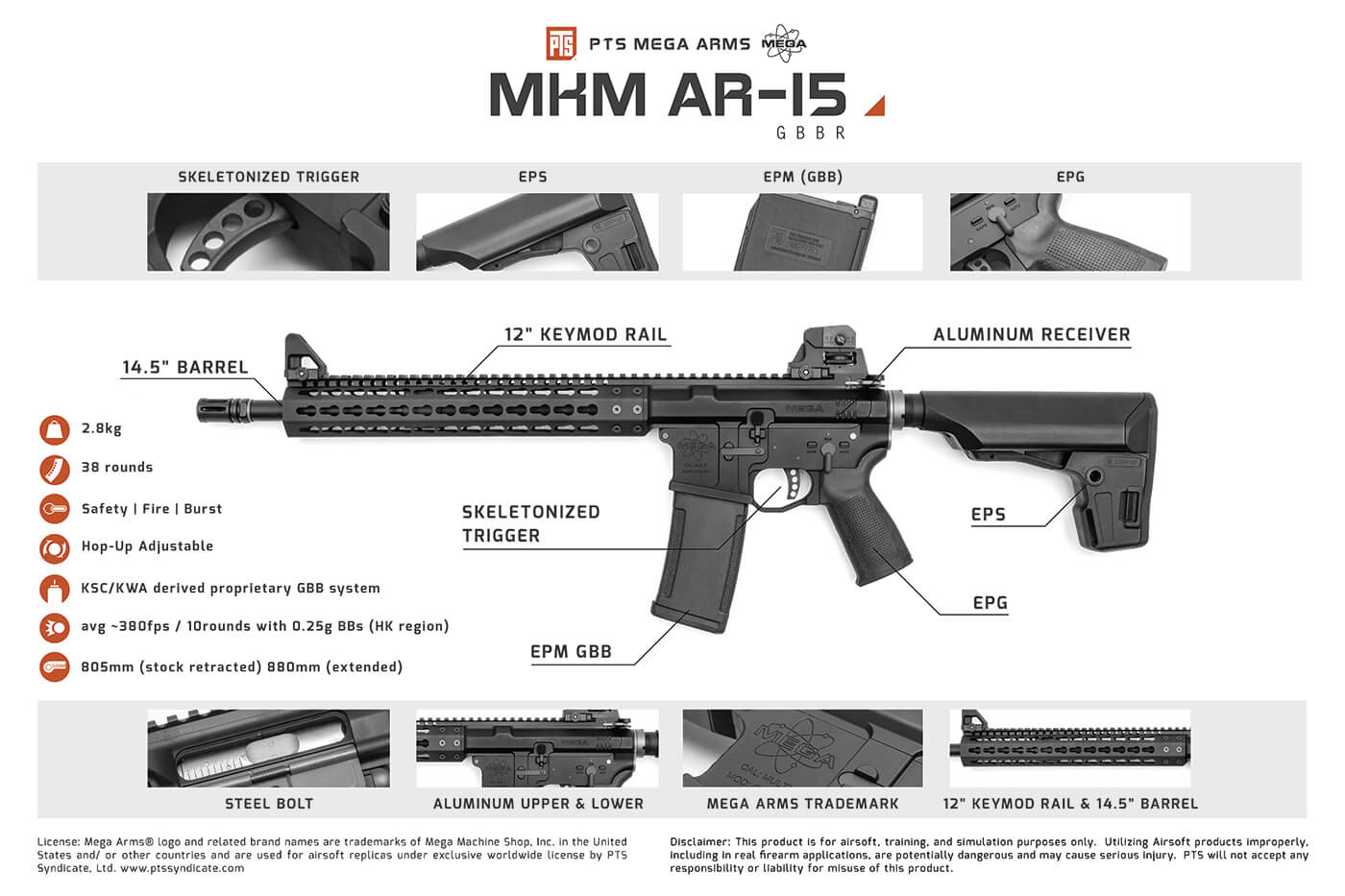 PTS Mega Arms MKM AR15 Features
