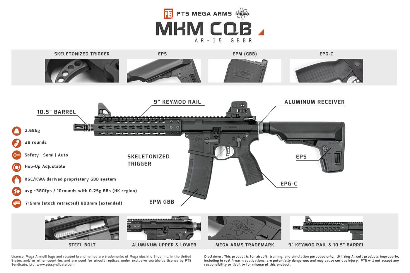 PTS Mega Arms MKM AR15 CQB Features