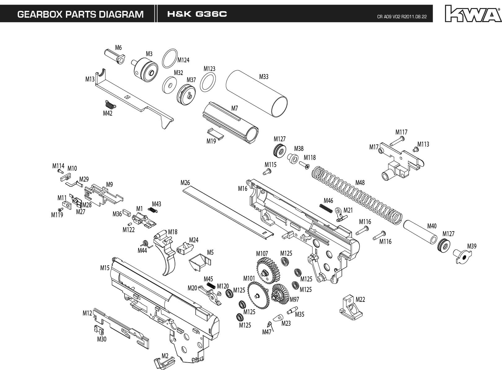 Downloads Kwa Airsoft 22 Rifle Parts Diagram Engine Car And Component G36c Gearbox