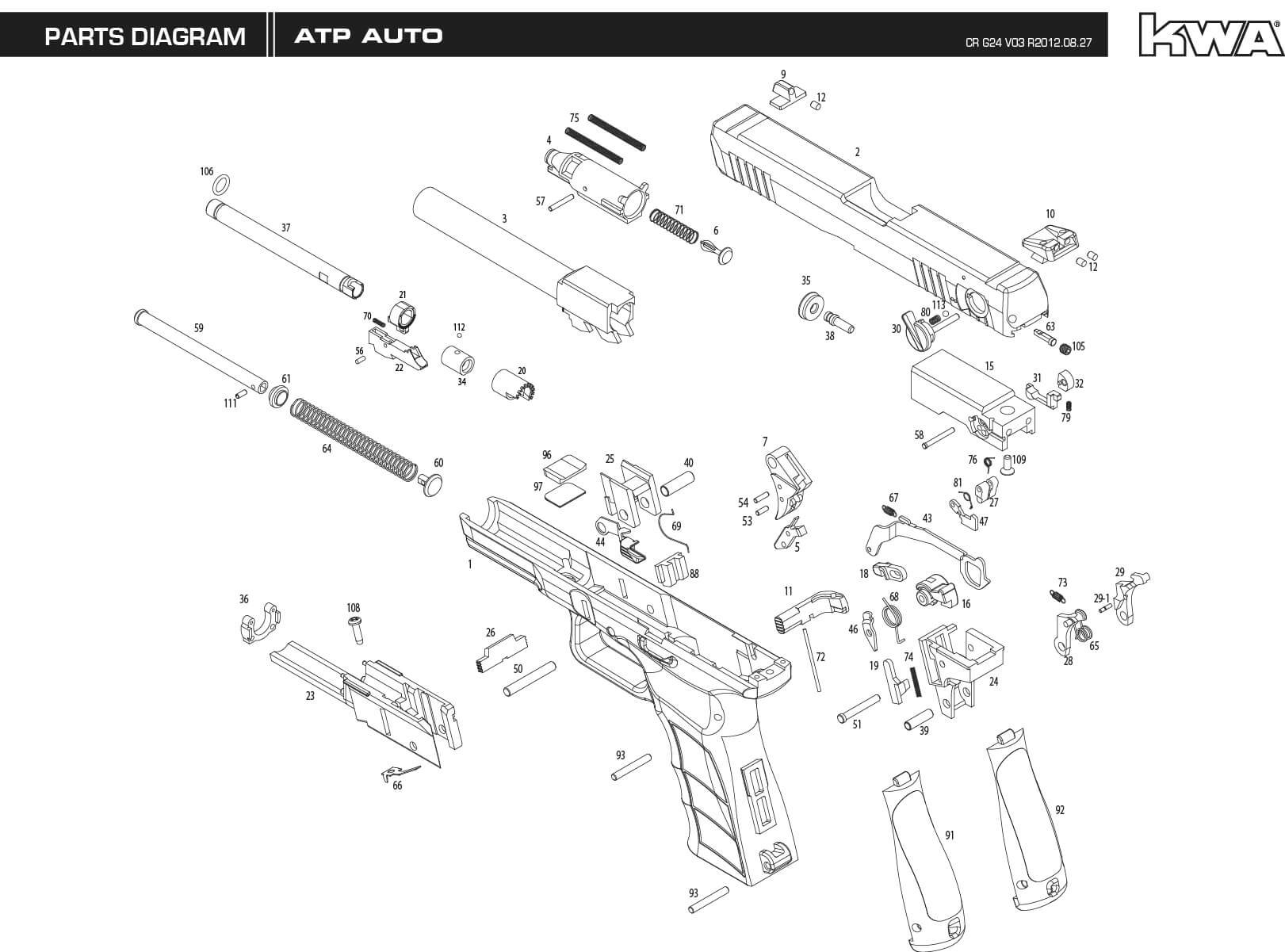 kwa atp auto disassembly help   airsoft