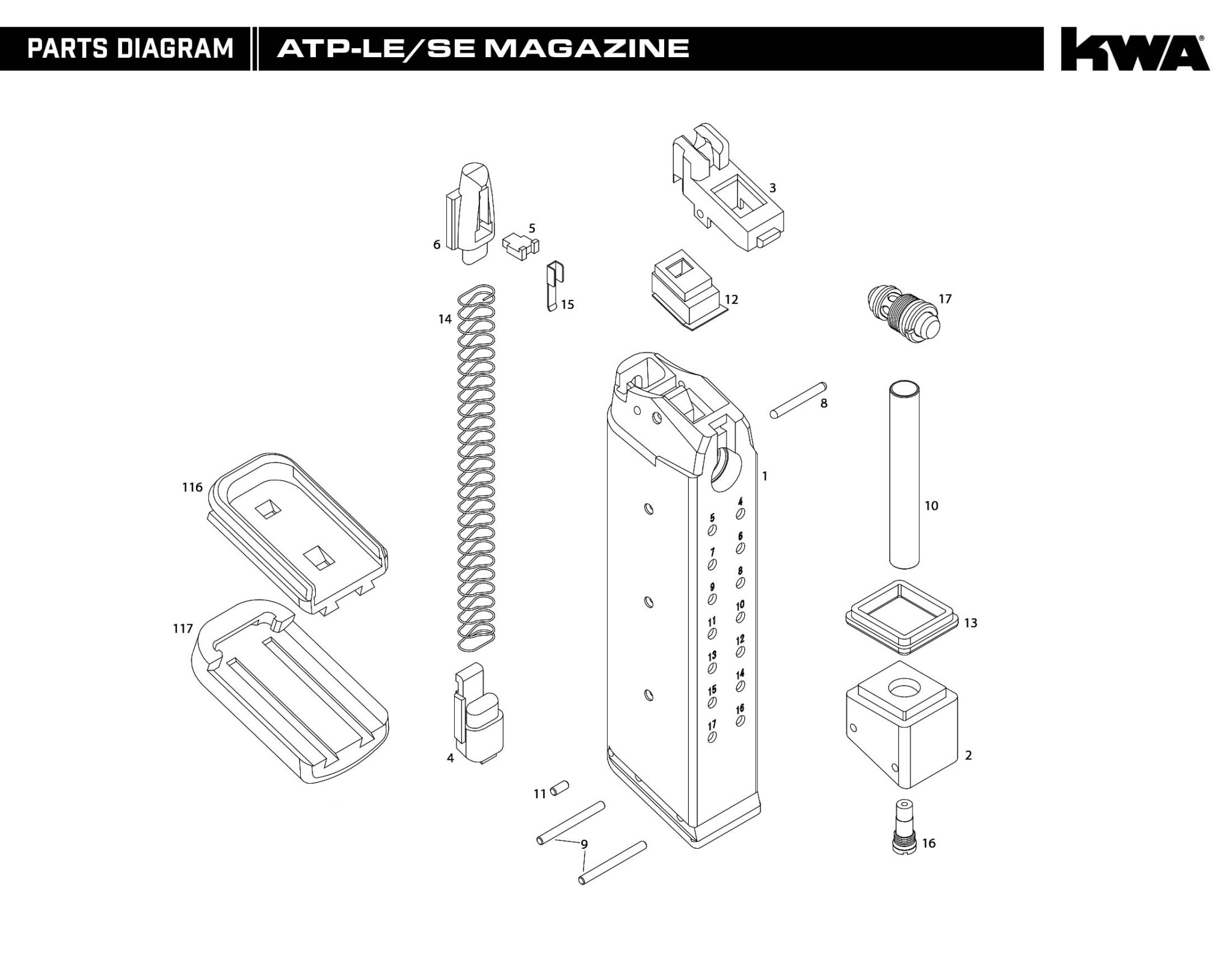 Downloads Kwa Airsoft Gun Diagrams 1911 Mil Spec Including Parts Diagram List Magazine