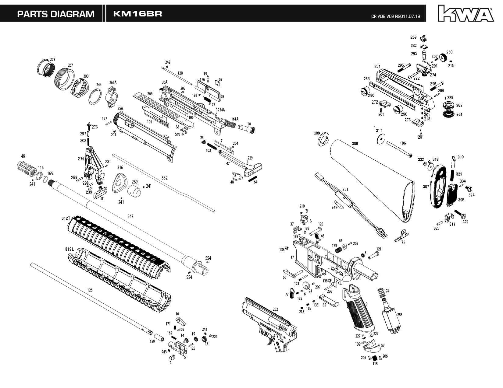 cqb diagrams downloads – kwa airsoft