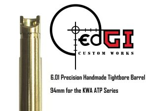 edGI Custom Works 6.01 Precision Handmade Tightbore Inner Barrel- 94mm for the KWA ATP Series