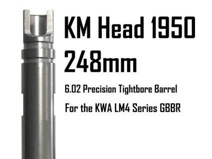 198-KM-248-602 KWA KM Head Precision Tightbore Inner Barrel: LM4C 248mm x 6.02mm LM4 Series GBBR