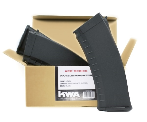 197-07703 AKR AEG3 AK120c (30/120) Black Magazine 3-pack